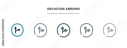 Платно deviation arrows icon in different style vector illustration