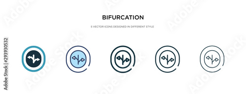 Fotografie, Obraz bifurcation icon in different style vector illustration