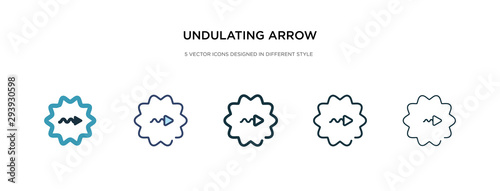 undulating arrow icon in different style vector illustration Canvas-taulu