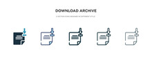 Download Archive Icon In Diffe...