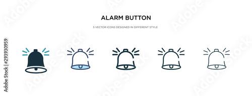 Fotografía alarm button icon in different style vector illustration