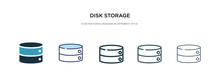 Disk Storage Icon In Different...