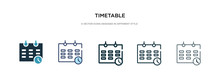 Timetable Icon In Different St...