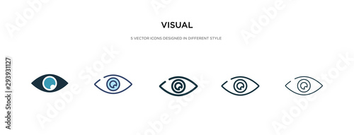 Obraz visual icon in different style vector illustration. two colored and black visual vector icons designed in filled, outline, line and stroke style can be used for web, mobile, ui - fototapety do salonu
