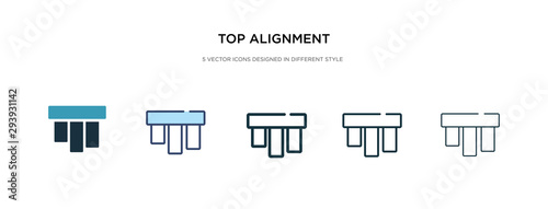 top alignment icon in different style vector illustration Canvas Print