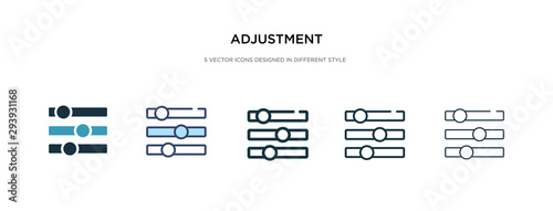 Photo adjustment icon in different style vector illustration