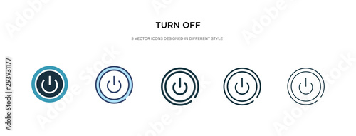Vászonkép  turn off icon in different style vector illustration