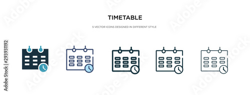 timetable icon in different style vector illustration Canvas Print