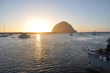 Sunset Morro Bay Rock Central California