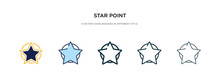 Star Point Icon In Different S...