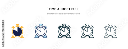 time almost full icon in different style vector illustration Canvas-taulu