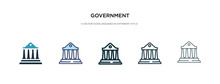 Government Icon In Different S...