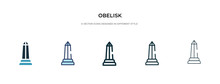 Obelisk Icon In Different Styl...