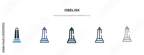 Cuadros en Lienzo obelisk icon in different style vector illustration