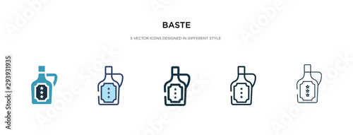 Photo baste icon in different style vector illustration