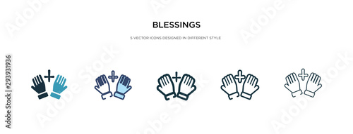 blessings icon in different style vector illustration Wallpaper Mural