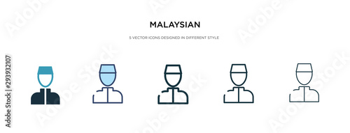 Fotografía malaysian icon in different style vector illustration