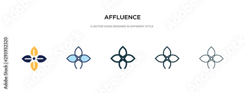 Photo affluence icon in different style vector illustration