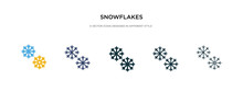 Snowflakes Icon In Different S...
