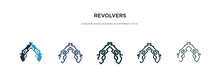 Revolvers Icon In Different St...