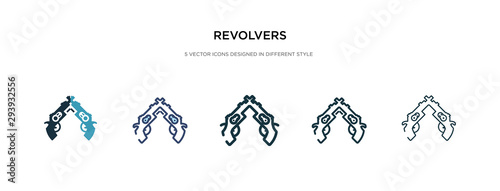 Fotografía revolvers icon in different style vector illustration