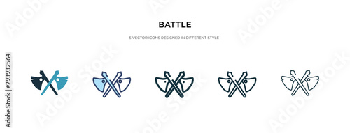 Slika na platnu battle icon in different style vector illustration
