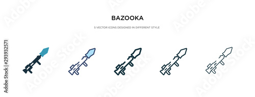 Photo bazooka icon in different style vector illustration