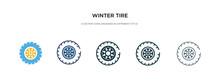 Winter Tire Icon In Different ...