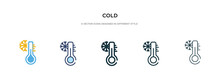 Cold Icon In Different Style V...