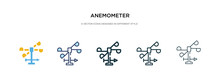 Anemometer Icon In Different S...