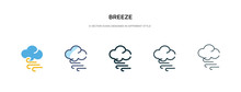 Breeze Icon In Different Style...