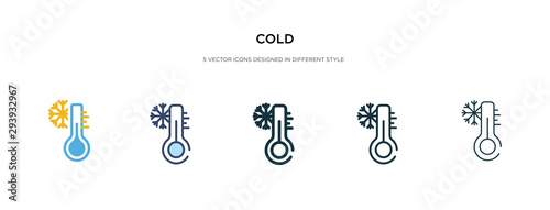 Photo cold icon in different style vector illustration