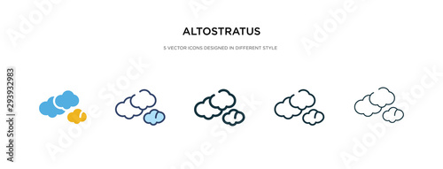 Fényképezés altostratus icon in different style vector illustration