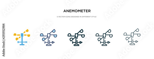 anemometer icon in different style vector illustration Canvas Print