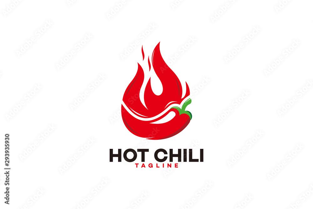 Fototapeta hot chili logo icon vector isolated