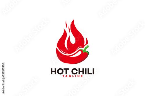 Fototapeta hot chili logo icon vector isolated obraz
