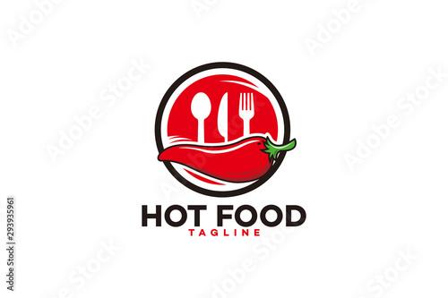 hot chili logo icon vector isolated Slika na platnu