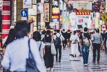 大阪・街・歩く人々