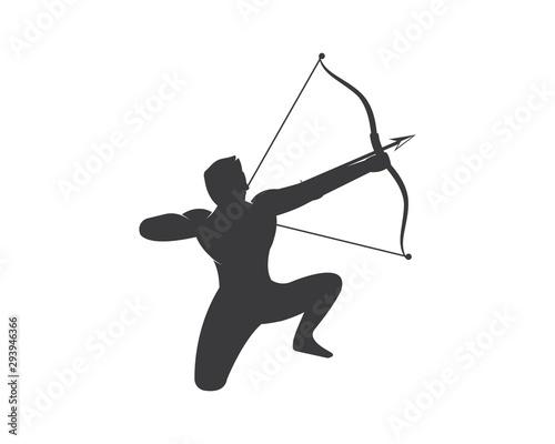 Photo Arrow archery icon vector illustration Logo Template
