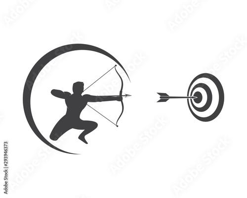 Arrow archery icon vector illustration Logo Template Wallpaper Mural