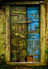 Rustic Door Abstract At Meghalaya India