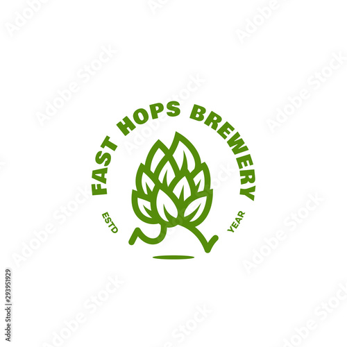 Fotomural Fast hops brewery logo