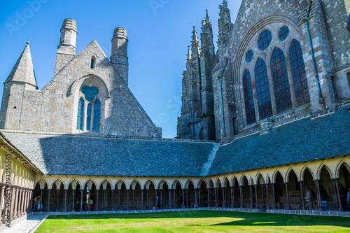 Carta da parati Mont Saint-Michel, Manche, Normandie, France.