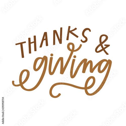 Obraz na plátně  Thanks & Giving