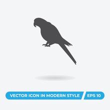 Scarlet Macaw Vector Icon, Sim...