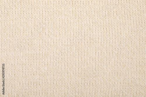 Obraz Beige melange knitting fabric textured background - fototapety do salonu