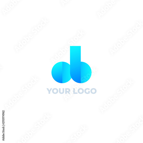 Fotografía  ob letters vector logo design