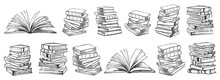 Books. Hand Drawn Illustration...