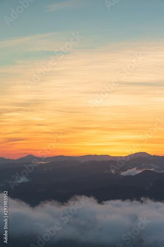 雲海と朝焼け Tapéta, Fotótapéta