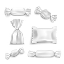 White Candy Wrapper Mockup Set...